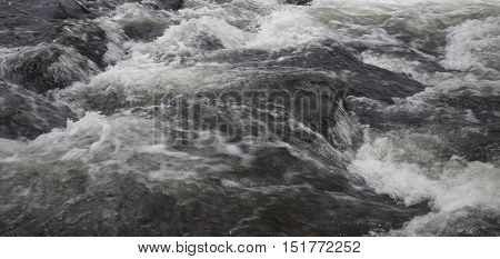 Boulders boiling the water of Wilson Creek in North Carolina