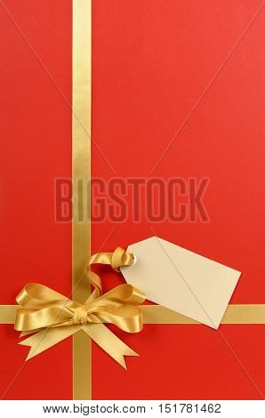Red And Gold Gift With Tag