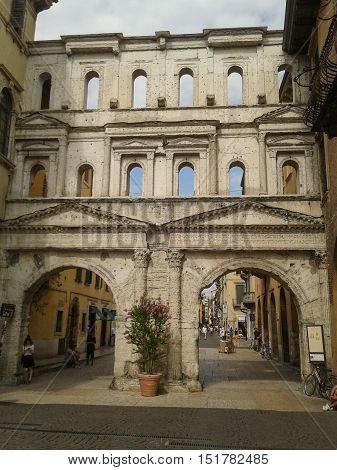 Porta Borsari City Gate In Verona