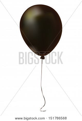 Single Black Gathering Event Air Balloon