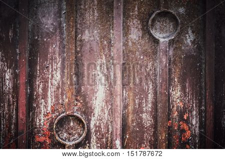 Low Key Lighting Old Door Background, Old Door Light And Shadow, Conservative With Toned Color And S