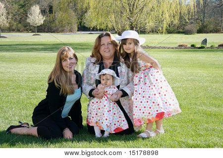 Three generations of girls