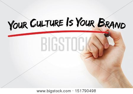 Hand Writing Your Culture Is Your Brand