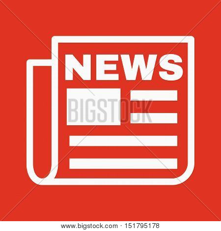The news icon. Newspaper symbol. Flat Vector illustration