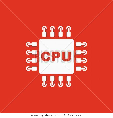 The cpu icon. Microprocessor and processor symbol. Flat Vector illustration