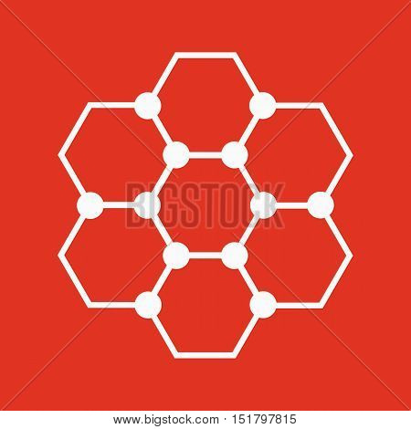 The molecule icon. Atom and chemistry, dna, physics symbol. Flat Vector illustration