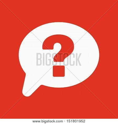 The question mark icon. Help speech bubble symbol. Flat Vector illustration
