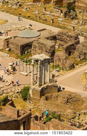 ROME - AUGUST 27: The Roman Forum on August 27 2016 in Rome