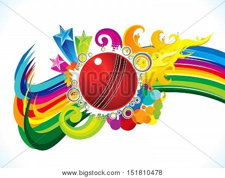abstract artistic burning cricket ball background vector illustration