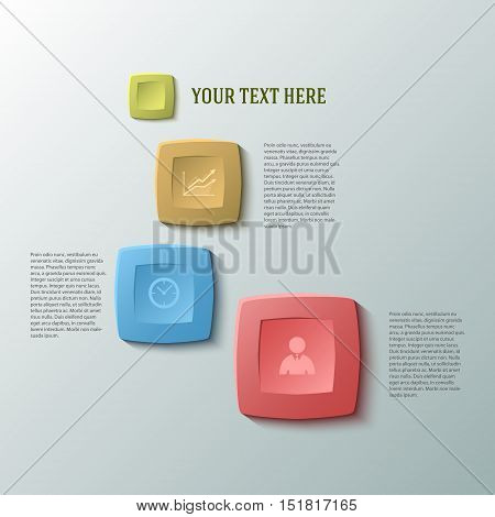 Design business presentation template. Vector illustration for technology infographics number banners charts and graphs or powerpoint background graphs and tables. EPS 10