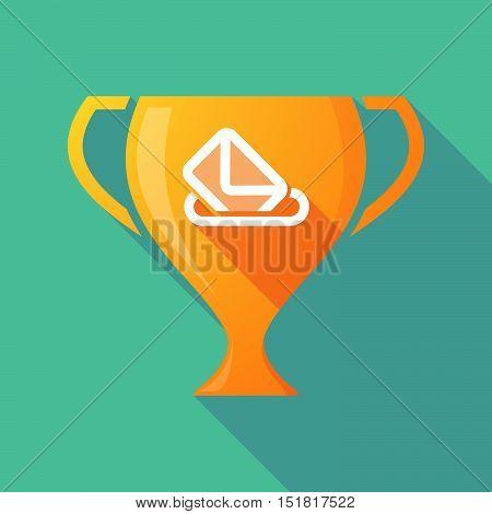 Long Shadow Gold Award Cup With  A Ballot Box