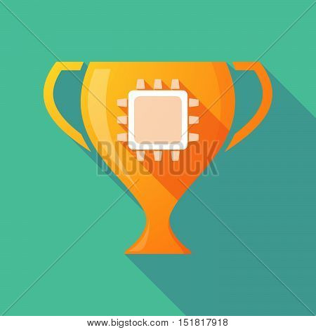 Long Shadow Gold Award Cup With A Cpu