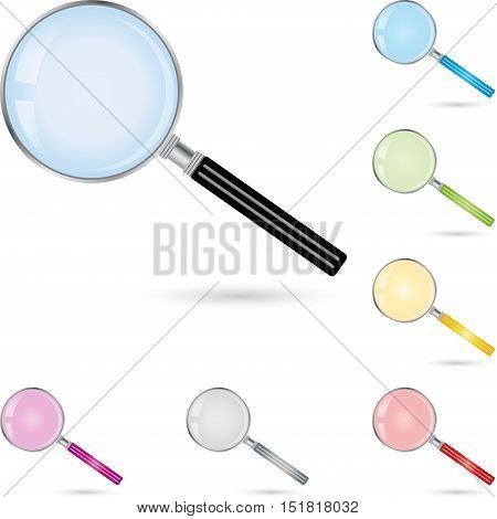 Magnifying glass as vector, magnifying glass logo