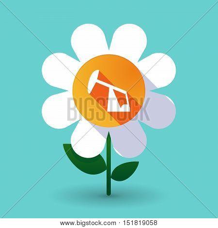 Long Shadow Daisy Flower With A Horsehead Pump