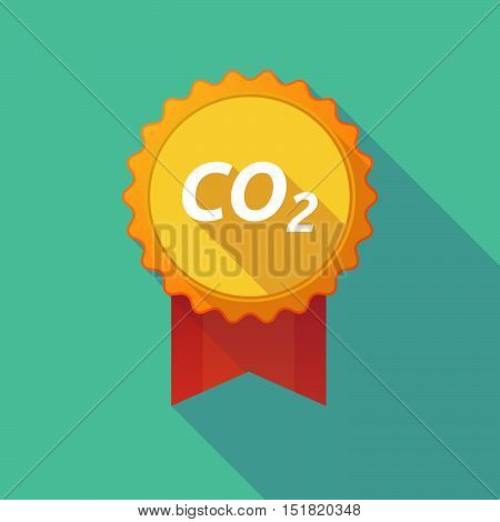 Long Shadow Badge With    The Text Co2