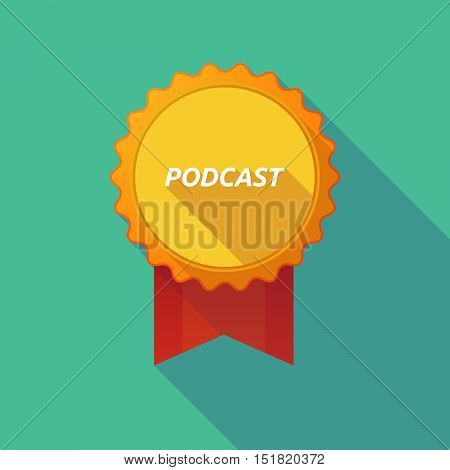 Long Shadow Badge With    The Text Podcast