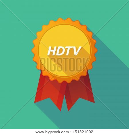 Long Shadow Badge With    The Text Hdtv