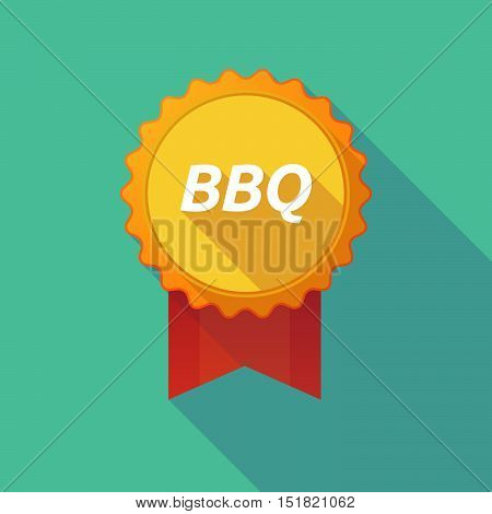 Long Shadow Badge With    The Text Bbq