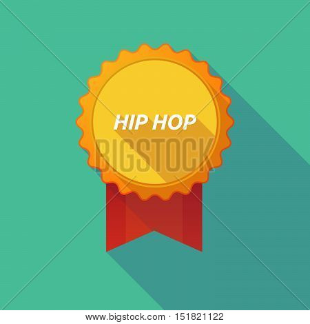 Long Shadow Badge With    The Text Hip Hop