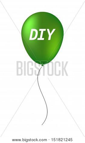 Isolated Balloon With    The Text Diy