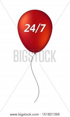 Isolated Balloon With    The Text 24/7