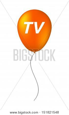 Isolated Balloon With    The Text Tv
