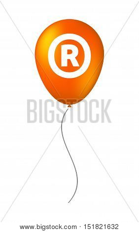 Isolated Balloon With    The Registered Trademark Symbol