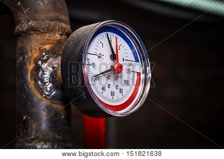 Pipelines With Pressure Gauge Water
