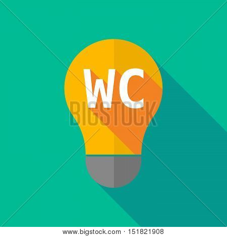 Long Shadow Light Bulb Icon With    The Text Wc