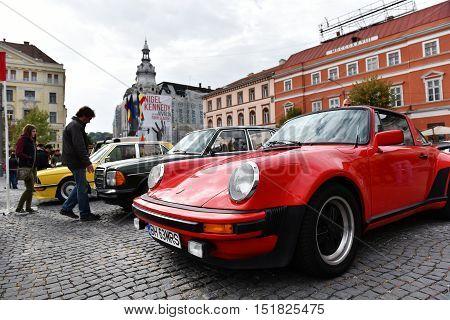 Red Porsche Vintage Car
