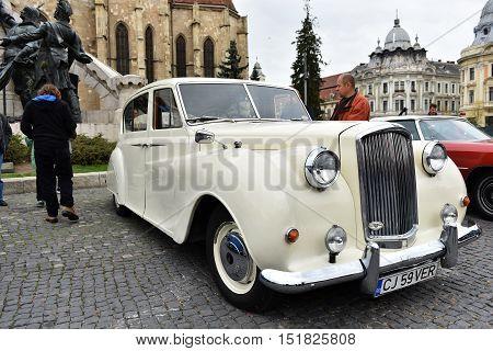 White Austin Princess British Vintage Car