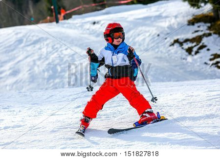 Gerardmer, France - Feb 16 - French Kid Form Ski School Groups During The Annual Winter School Holid