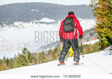 Gerardmer, France - Feb 17- Closeup On Skier During The Annual Winter School Holiday On Feb 17, 2015