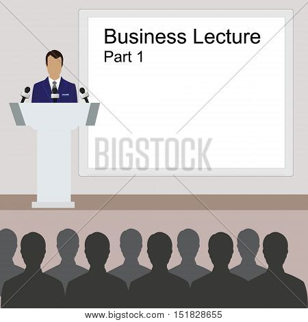 Business Lecture Background