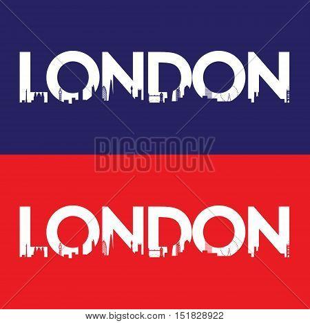 London city label. Creative poster design. Vector illustration.