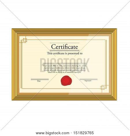 Education Certificate Vector