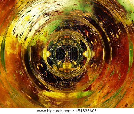 Cosmic space and stars with circle effect, color cosmic abstract background