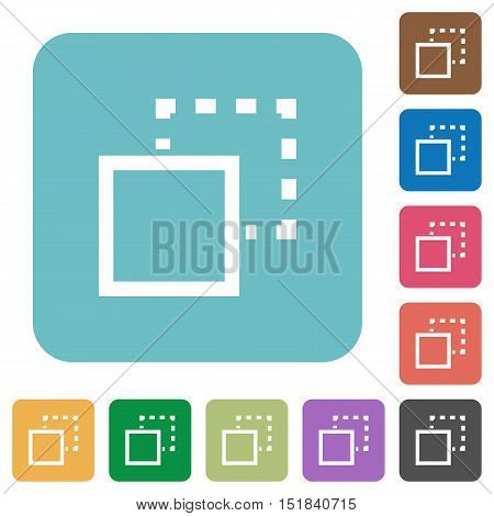 Flat send to back icons on rounded square color backgrounds.
