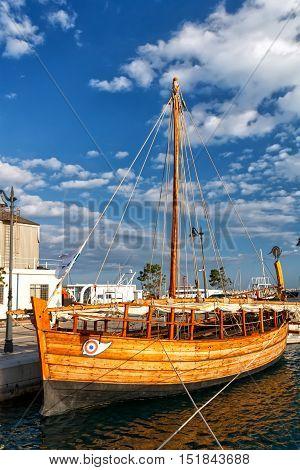 Reconstruction of Kyrenia ship in Limassol Cyprus