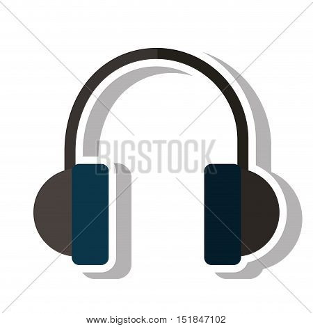 Headphone device icon. Music sound audio stereo and technology theme. Isolated design. Vector illustration