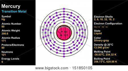 Vector - Mercury Atom