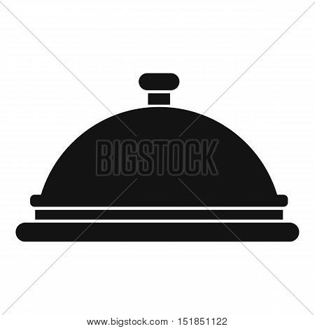 Restaurant cloche icon. Simple illustration of restaurant cloche vector icon for web