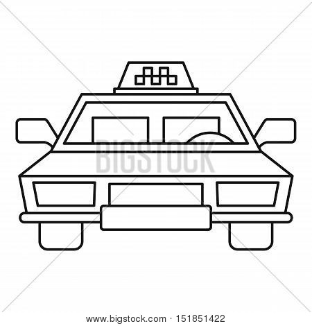 Taxi car icon. Outline illustration of taxi car vector icon for web