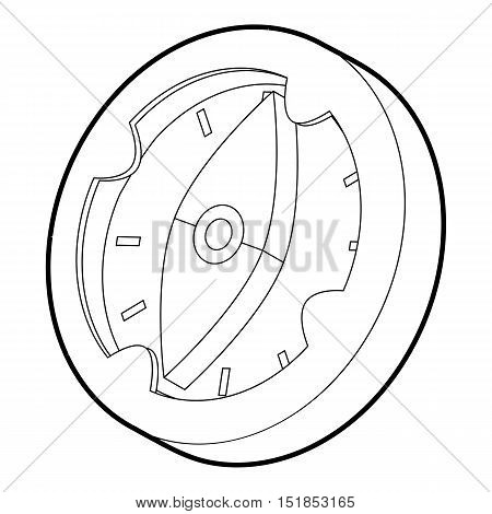 Compass icon. Isometric 3d illustration of compass vector icon for web