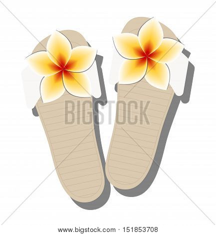 icon women's summer sandals for the beach. Template for jewelry store or sales. Vector illustration