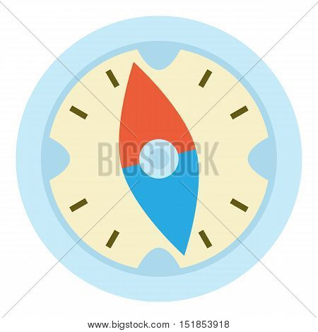 Compass icon. Cartoon illustration of compass vector icon for web