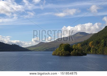 Loch Tay at Kenmore in Perthshire Scotland