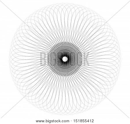 Abstract Spiral Element - Geometric Spiral, Vortex Made Of Thin Lines