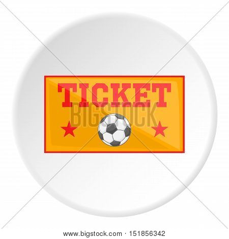 Football ticket icon. Cartoon illustration of football ticket vector icon for web
