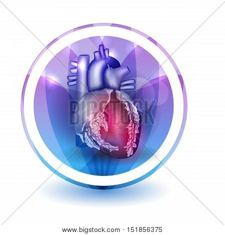 Heart Treatment Sign, Round Shape Colorful Overlay Flower Petals At The Background